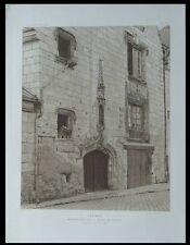 SAUMUR, MAISON REINE DE SICILE - 1911 - PLANCHE ARCHITECTURE -