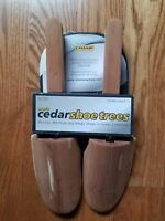 New Champ Cedar Wood Shoe Trees With Handles Fits Men's Size Shoes Up To 12