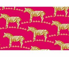 Zebra Pink Area Rug By Manual Woodworkers & Weavers 52 x 70
