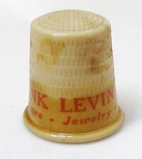 RARE 20s-30s THIMBLE - FRANK LEVIN JEANNETTE FURNITURE JEWELRY APPLIANCES OH PA