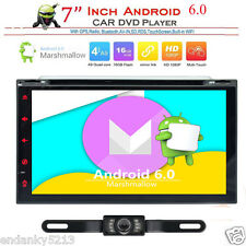 Android 6.0 Double Din Car Stereo Radio GPS Wifi 3G OBD2 HD Mirror Play BT & DVD