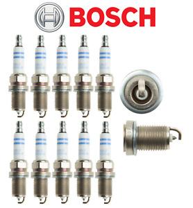 Spark Plugs Double Platinum Plug OEM Bosch Audi R8 V10 5.2L 2010-2017 (10pcs)