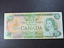 1979 $20 Bank of Canada Banknote 56449098130 Crow Bouey F-VF Grade Bill