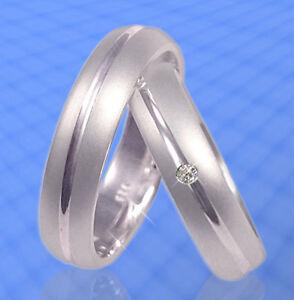 2 Hochzeitsringe Trauringe Verlobungsringe mit Stein , Silber 925 , J9-1