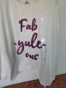 Light Up Fab Yule Ous Christmas Jumper By George ... Size M/L