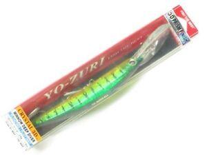 """Yo-Zuri F1153-HT Hot Tiger Crystal 3D Minnow Deep Diver 5-1/4"""" Fishing Lure"""