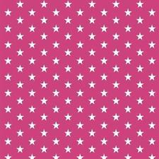 Baumwollstoff Sternchen Pink METERWARE Webware Popeline Stoff