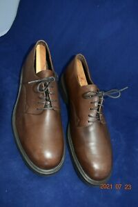 Banana Republic Mens Preston Travelers Leather Brown Oxford Dress Shoes Sz 91/2