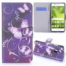 FUNDA PROTECTORA estampado 23 para Huawei P10 Lite BookCover Estuche NUEVO