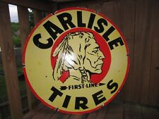 Old Carlisle tire Double Sided Porcelain Sign