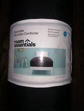 Reversible Microfiber Comforter Twin Xl Black Gray R oom Essentials