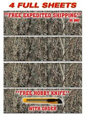 """4 CAMO DECALS MADE FROM 3M WRAP VINYL 48""""x15"""" TRUCK CAMO TREE PRINT CAMOUFLAGE"""