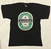 Adult Mens  Australia Day Souvenir  Australian T Shirt Beer Aussie Tee Top