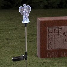 Solar LED Color Changing Angel Memorial Cemetery Garden Yard Stake