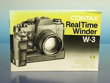 Contax Real Time Winder W-3 Instruction Booklet Bedienungsanleitung - (200143)