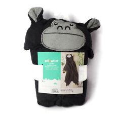 Pillowfort Gorilla Hooded Towel Black and Gray K0335