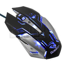 New USB Gaming Mouse Wired Black Productivity Adjustable DPI: 2400 1600 1200 800