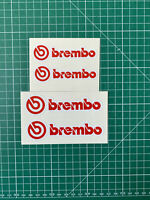 Stickers brembo lot de 4 autocollants étrier de frein voiture brake decal vinyl
