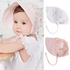 Kids Summer Sun Hat Cotton Flower Prints Hollow Caps For Baby Girls Boy Soft Cap