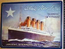 Olympic Titanic White Star largest Steamers in World LAMIERA SCUDO ka7 µ *