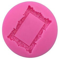 Silicone 3D Mirror Frame Molds DIY Cake Decorating Fondant Clay Sugar Craft Tool