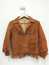 Vintage 50s Short Horn Big E Suede Jacket Levis Strauss of California Size 16