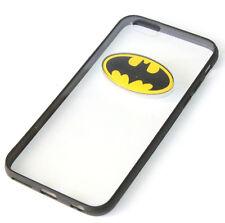 for iPhone 6 / 6S - Black Clear Batman Hard TPU Rubber Gummy Skin Case Cover