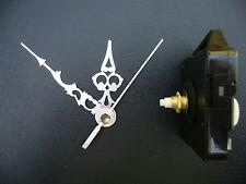 CLOCK MOVEMENT QUARTZ MEDIUM  SPINDLE. 76mm SILVER  HANDS