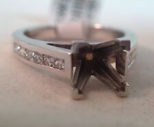 Lieberfarb 14k White Gold Engagement Ring Setting With Princess Cut Diamonds