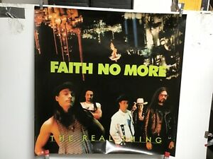 """Faith No More 1989 """"The Real Thing"""" Original Promo Poster"""