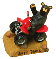 Big Sky Carvers Bearfoots Happy Trails 4 Wheelin' Figurine