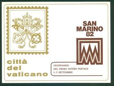 Vatican City Philatelic Show  Postcard: San Marino '82