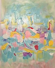 Mid Century Modern Abstract Painting wall art by  Dawn Eileen, arcylic