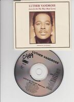 LUTHER VANDROSS ~ PROMO CDs~ Love is on the way ~ 1993 (XPCD345)