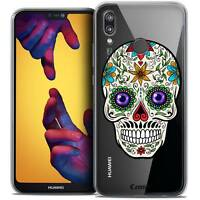 """Coque Crystal Gel Pour Huawei P20 LITE (5.84"""") Souple Skull Maria's Flower"""