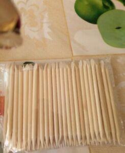 100 Pcs Nail Art Design Orange Wood Stick Manicure Pedicure Care Cuticle Remover