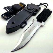 Military Fixed Blade Tactical Knife Hunting Outdoor Army Tool Combat Rambo Nife