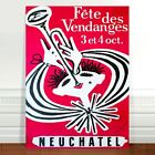 "Stunning Vintage Music Poster Art CANVAS PRINT 8x10"" Neuchatel Trumpet"