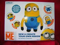 NEW MAKE YOUR OWN DESPICABLE ME MINIONS MINION SOFT TOY CRAFT SEW BUILD KIT