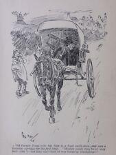 Trasporto & pony carrello vecchio contadino Jones horseless trasporto ANTICO punzone CARTOON