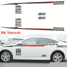 2x Auto Car Styling Side Body Bumper BK Material Decoration Vinyl Decal Sticker
