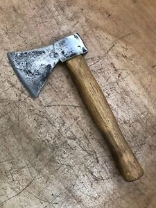 """Small Kindling Axe 3 1/4"""" cut 10 1/2"""" long (unable to make out name)"""
