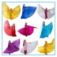 Kids belly dance wings dancing isis gold wings set bellydance children costumes