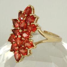 Markenlose Echte Edelstein-Ringe aus Gelbgold mit Saphir für Damen