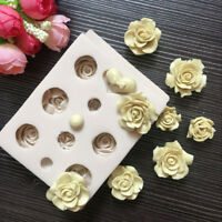 Rose Shaped Silicone Fondant Mould DIY Icing Cutter Mold Cake Decorating Tool
