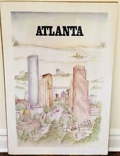 Atlanta by Z. Short after Saul Steinberg New Yorker Style Print Poster 1982