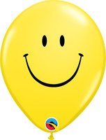 "11"" PRINT YELLOW SMILE FACE PACK OF 50 QUALATEX BALLOONS PARTY SUPPLIES"