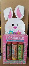 3 Pack Lip Smacker Lip Balms EASTER BASKET MINT NUTTY BRITTLE CARAMEL APPLE NEW