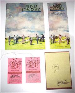 42nd CROSBY National Pro-Am Golf Championship program tickets 1983 Charley Pride