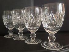 "SET 4 Waterford Crystal BOYNE  Claret White Red Wine Glasses Goblets 4.75"""
